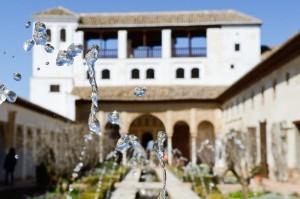 Patio de la Acequia, en el Generalife, Alhambra, Granada
